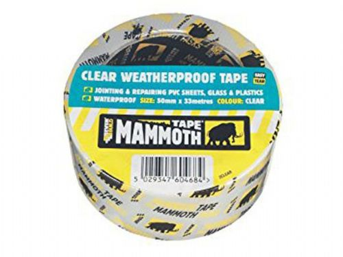 Everbuild 2CLEAR10 Clear Weatherproof Tape for jointing & repair pvc sheets etc